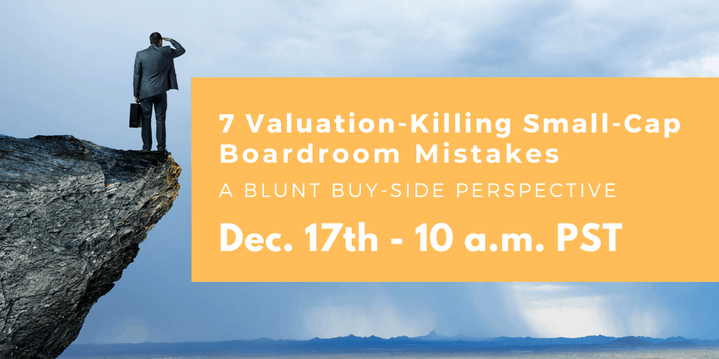 WEBINAR: 7 Value-Killing Small-Cap Boardroom Mistakes